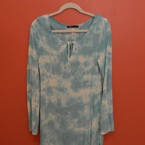 Blue Tue Dye Gypsy 05 Mini Dress